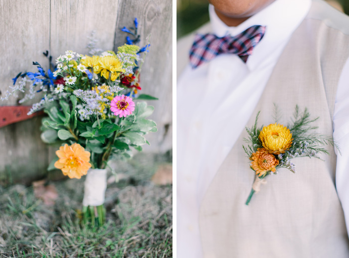 DIY rustic bouquet and flowers