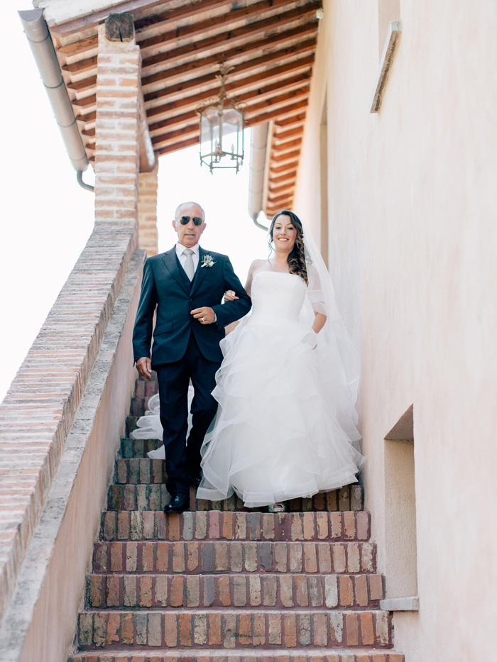 bride and father urbino resort wedding