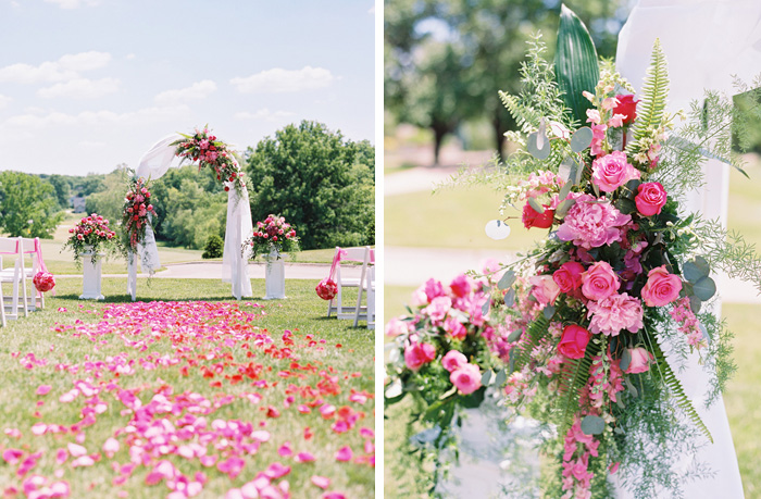 St. Louis outdoor wedding ceremony