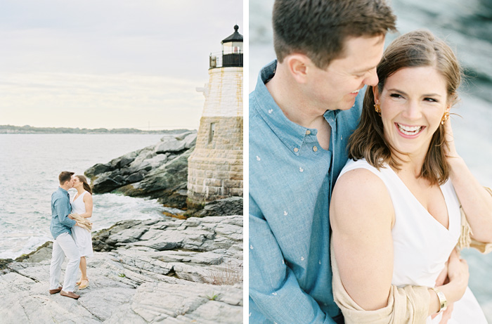 Lighthouse engagement session