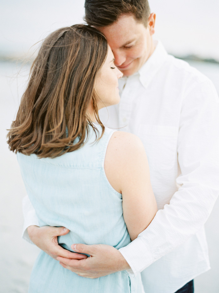 Newport RI beach engagement