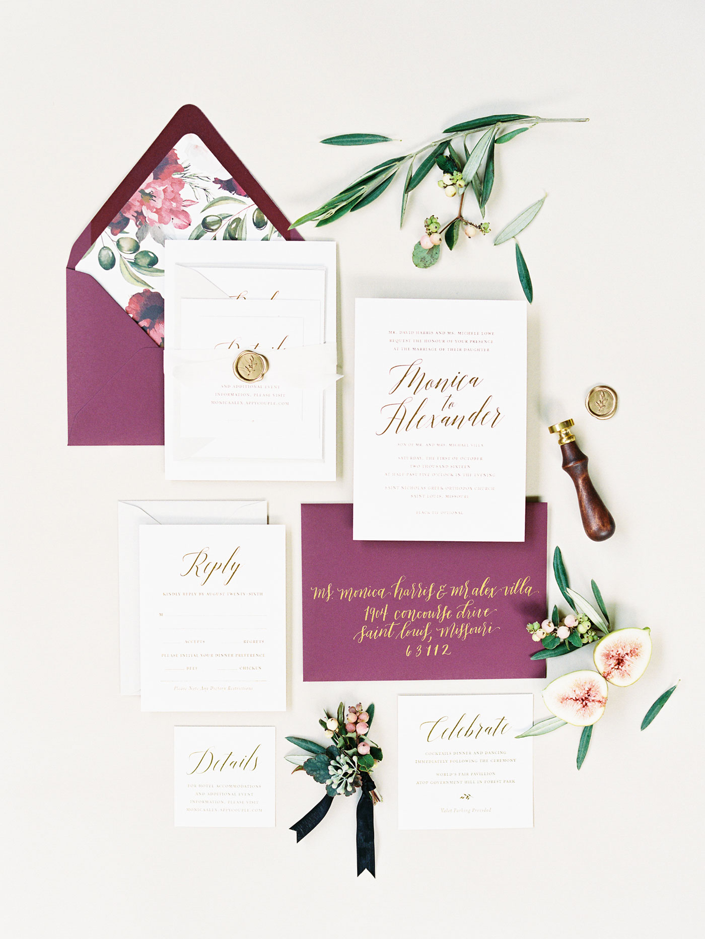 Martha Stewart wedding invitation suite