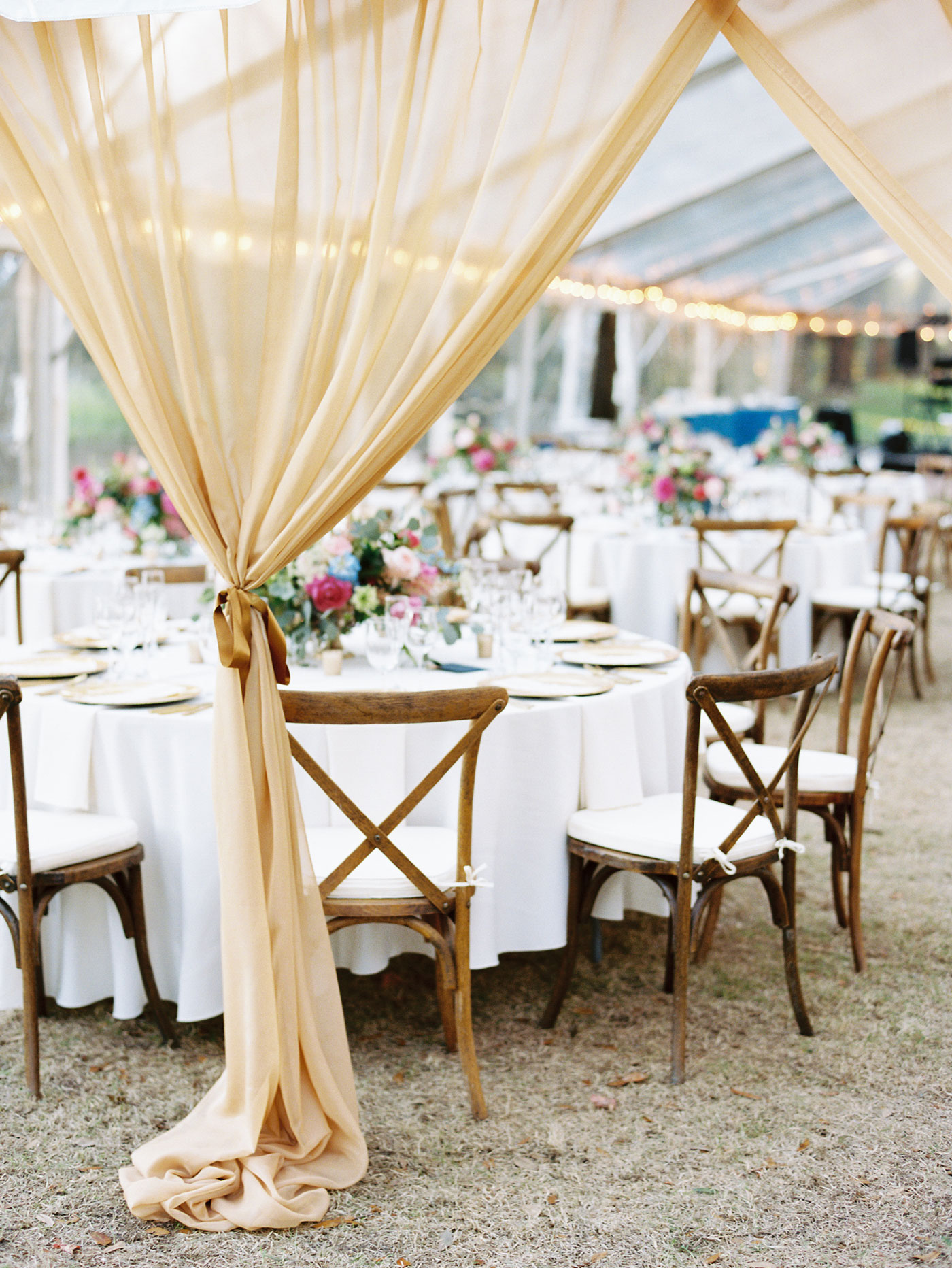 clear tent wedding reception