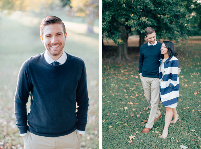 Engagement photos in Tower Grove Park