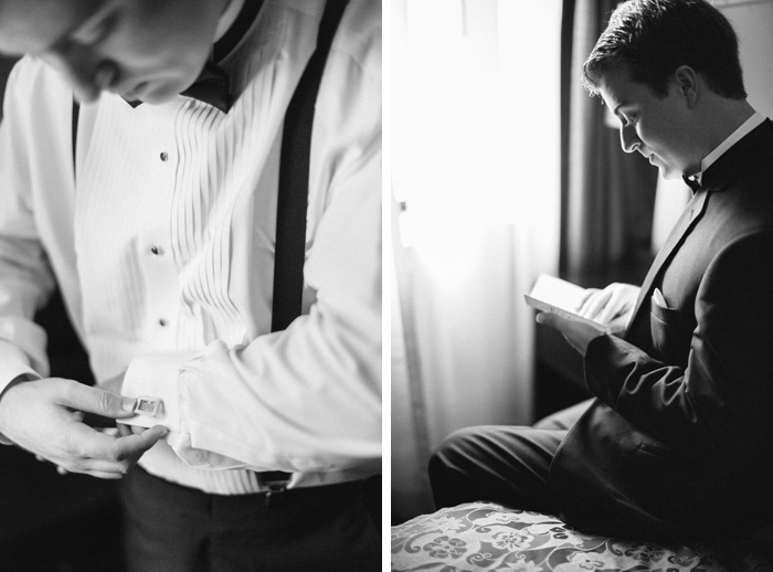 groom getting ready details