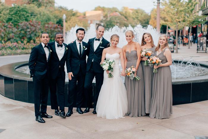 central west end fountain wedding photos