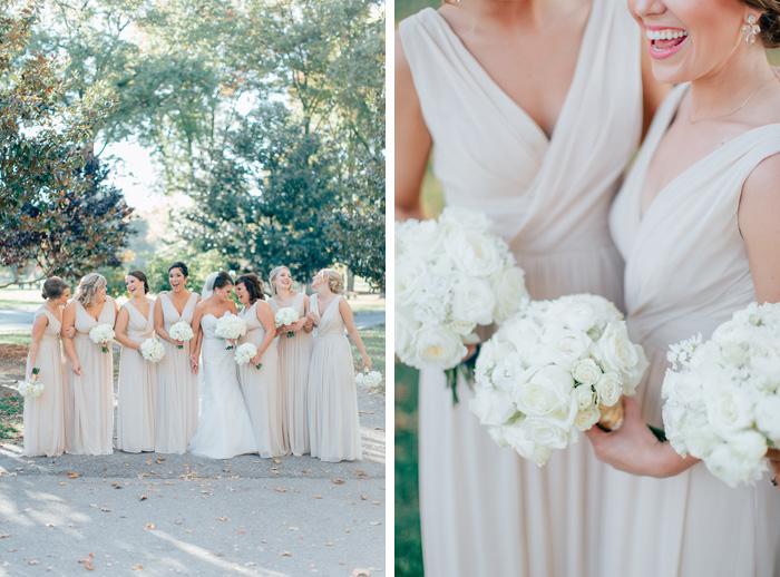 bridesmaids at tower grove park