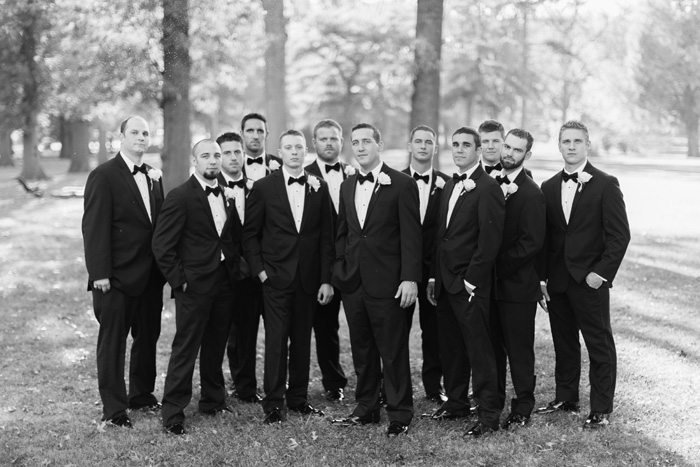 groomsmen at tower grove park