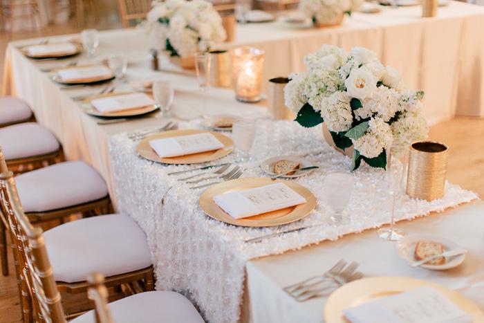 head table at windows on washington wedding