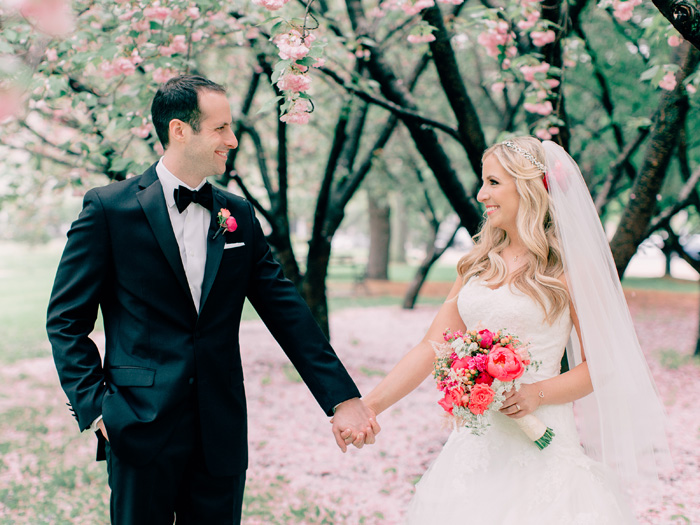 pink flowers wedding st louis