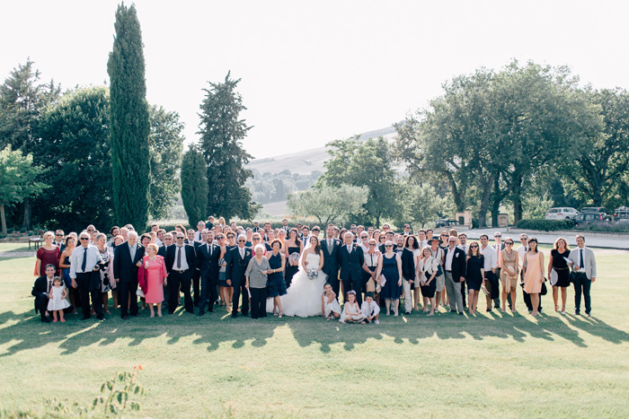 Urbino Resort Italy wedding group