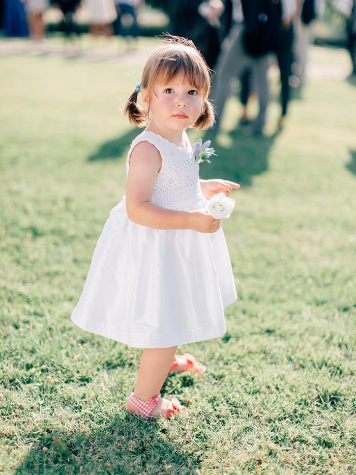 flower girl italy wedding