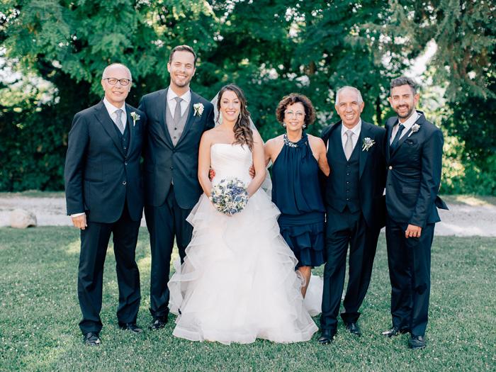 Italian wedding family photo