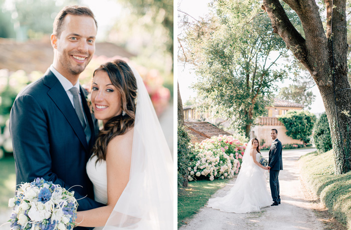 Bride and groom Urbino Resort wedding