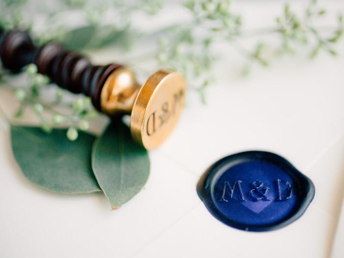 wedding invite wax seal