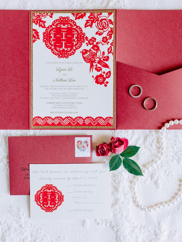 Chinese wedding invitation