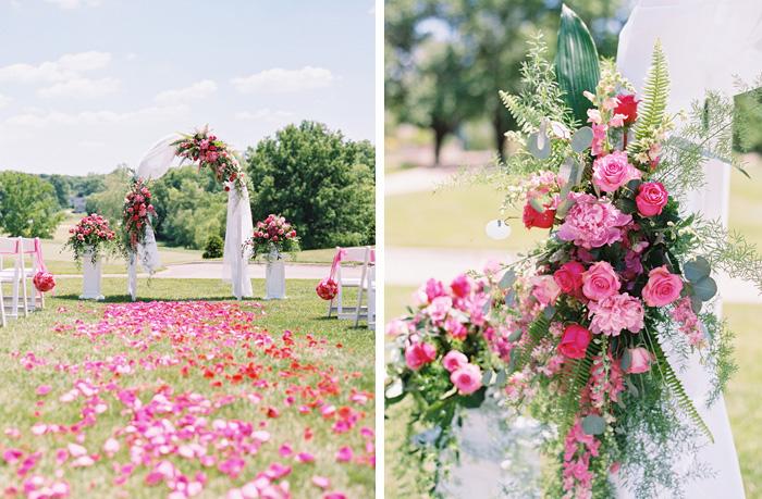 St. Louis outdoor wedding ceremony