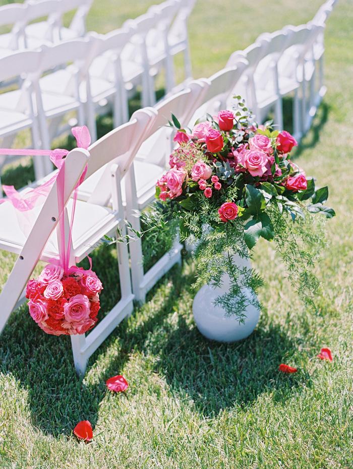 outdoor wedding floral details
