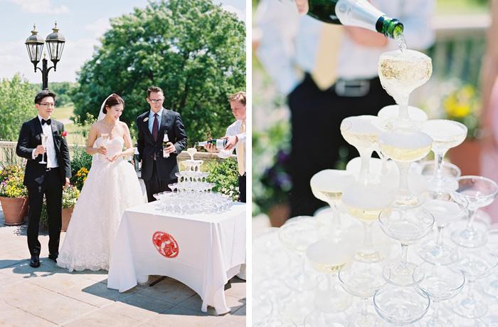 Champagne toast wedding