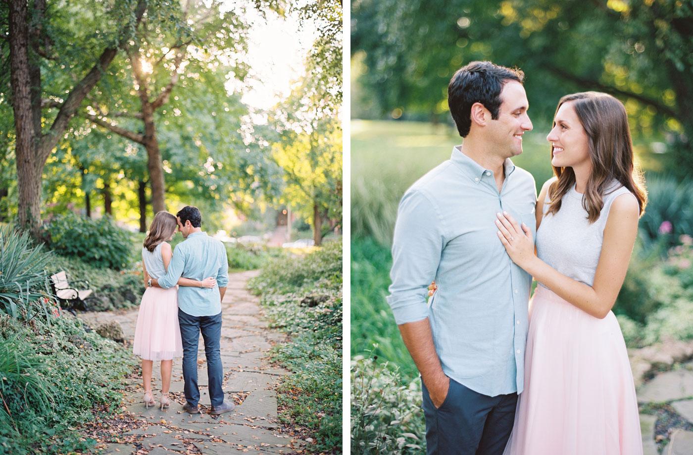 Engagement photos Lafayette Park