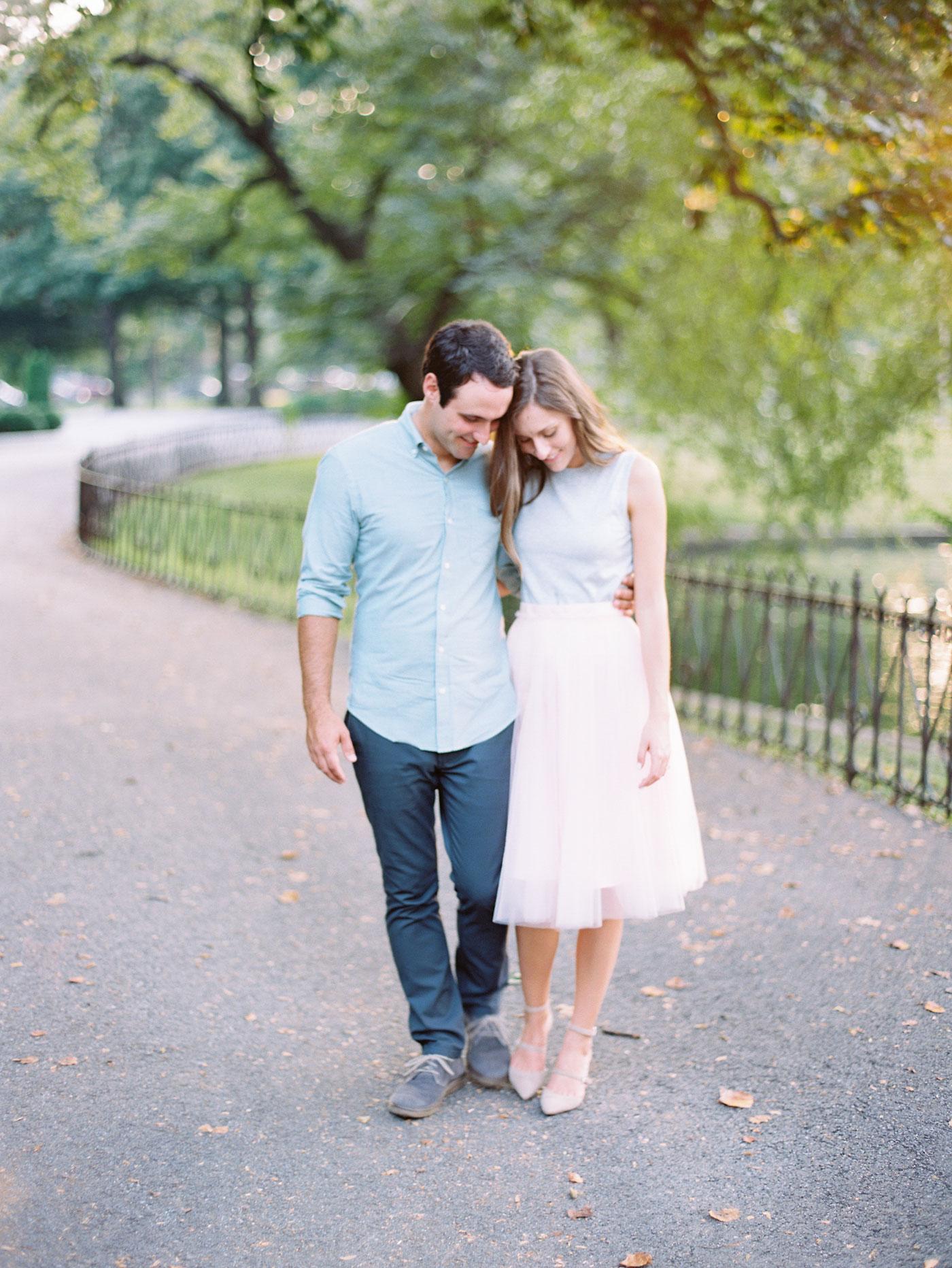 Romantic engagement photos Lafayette Park