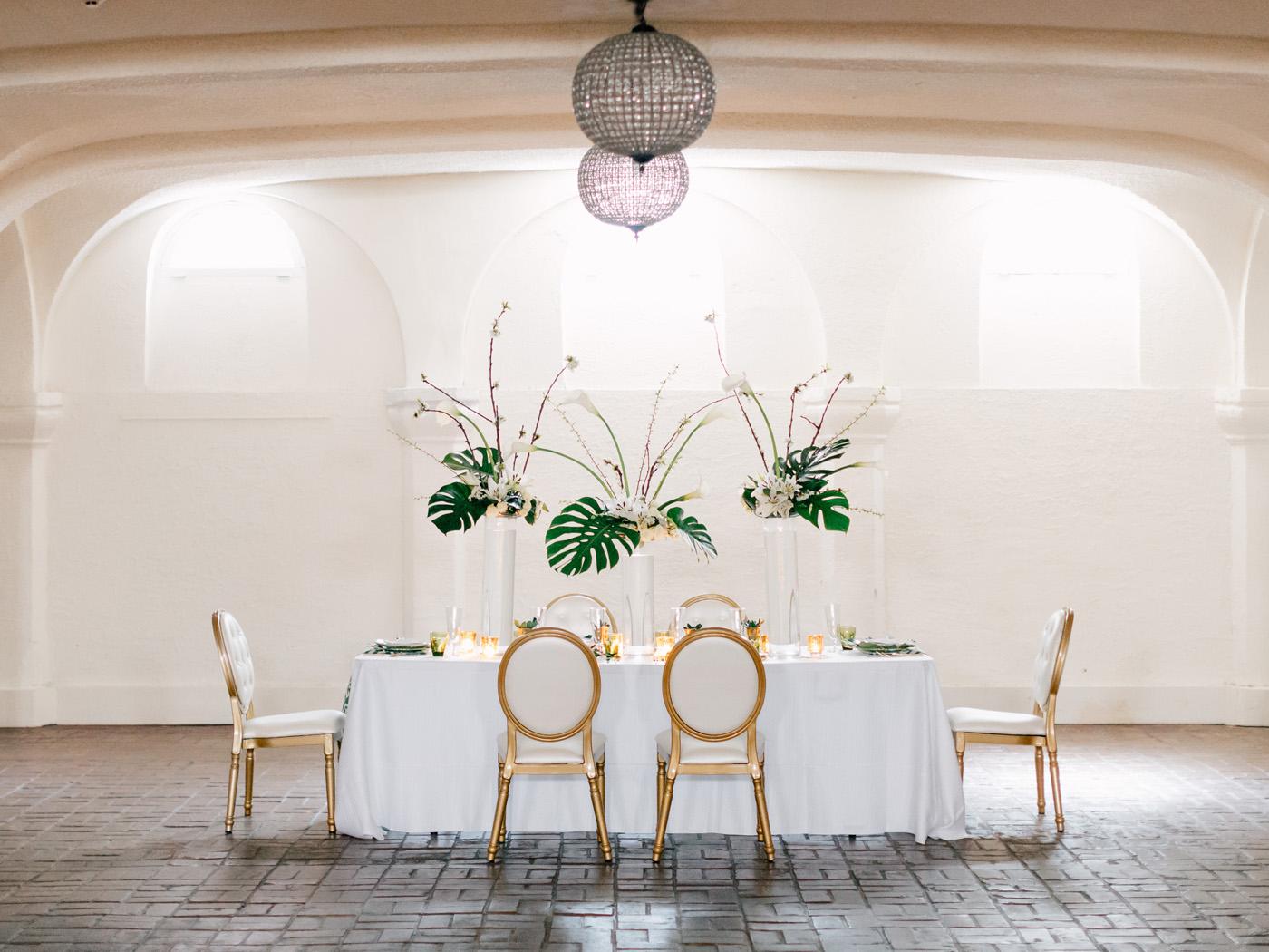 art deco wedding tables cape