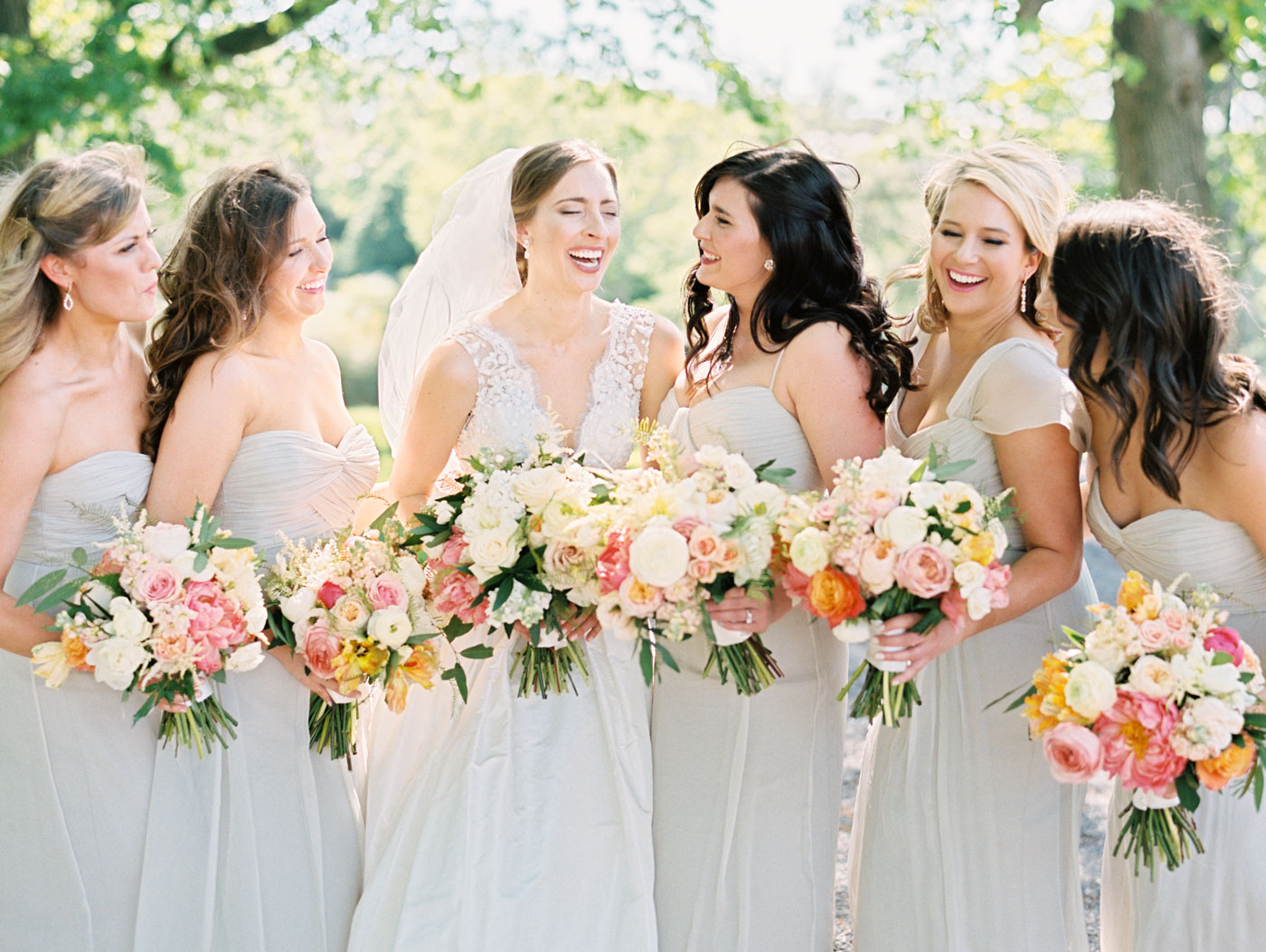 bridesmaids at forest park
