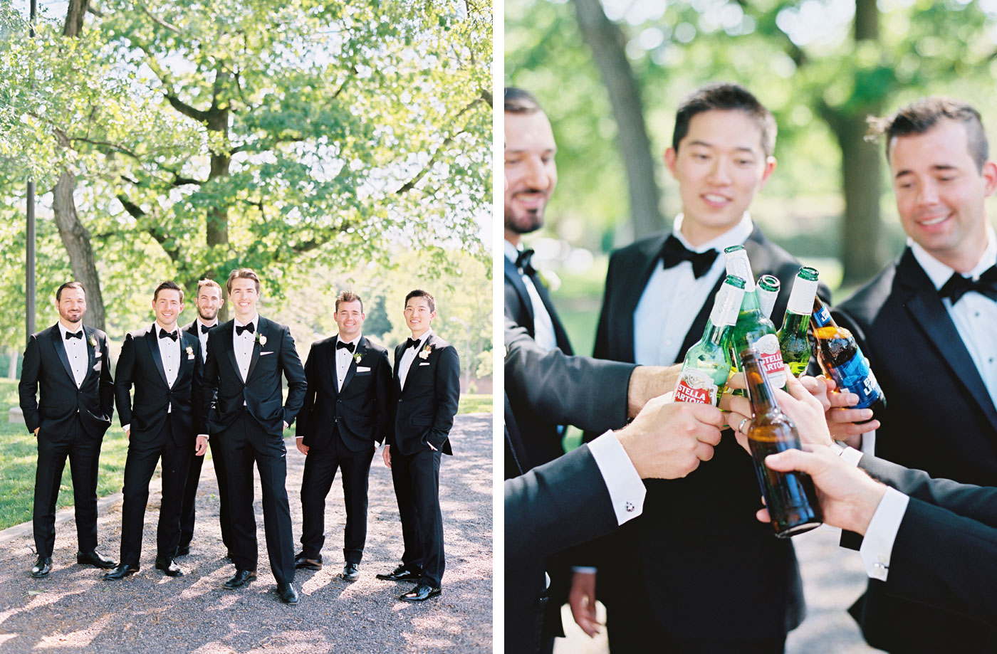 groomsmen at forest park