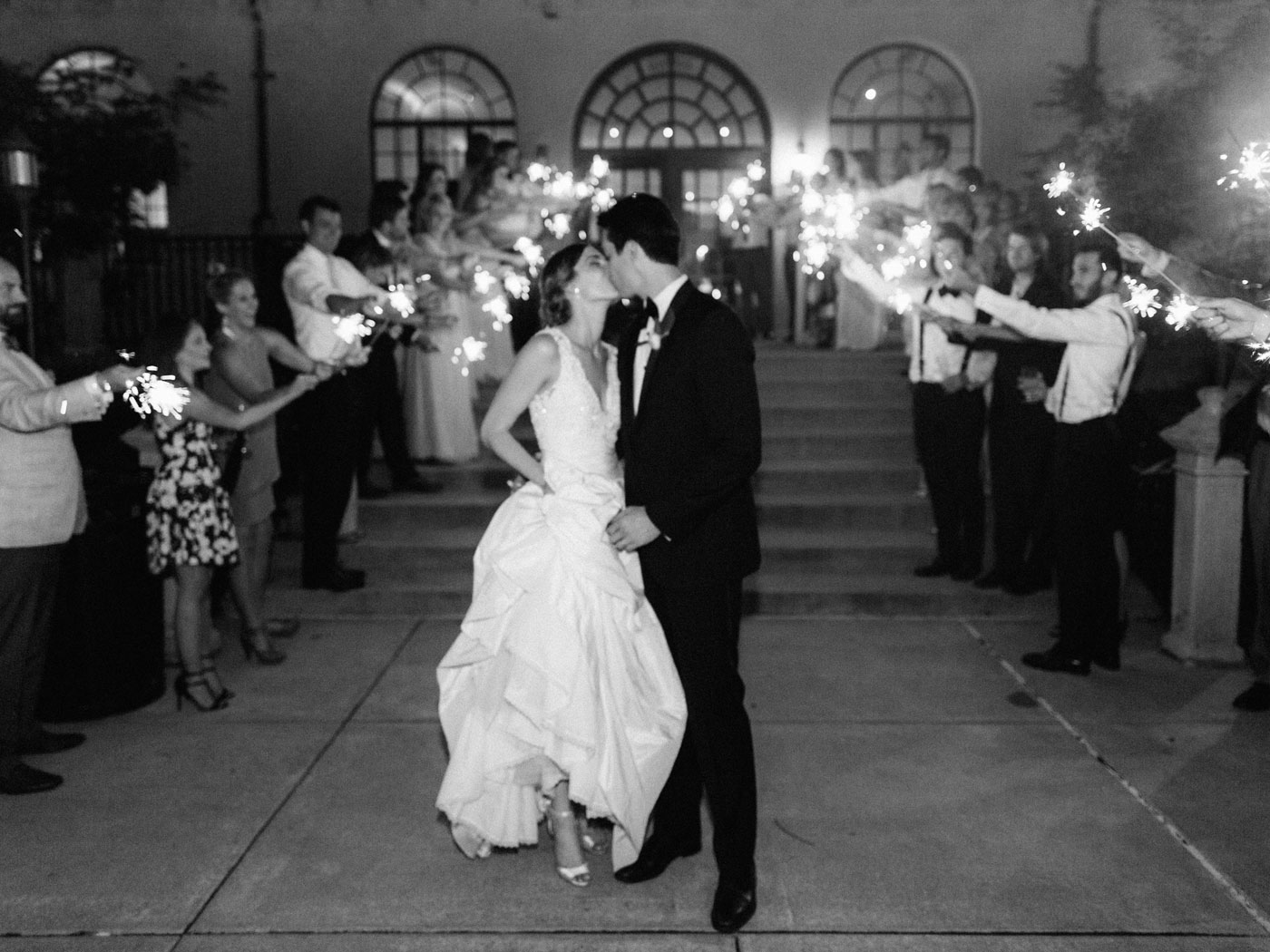 sparkler exit st. louis wedding