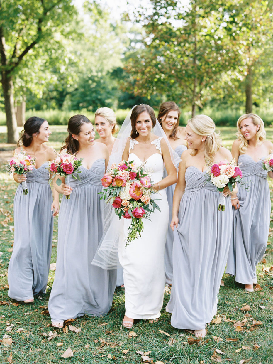 bridesmaids in forest park