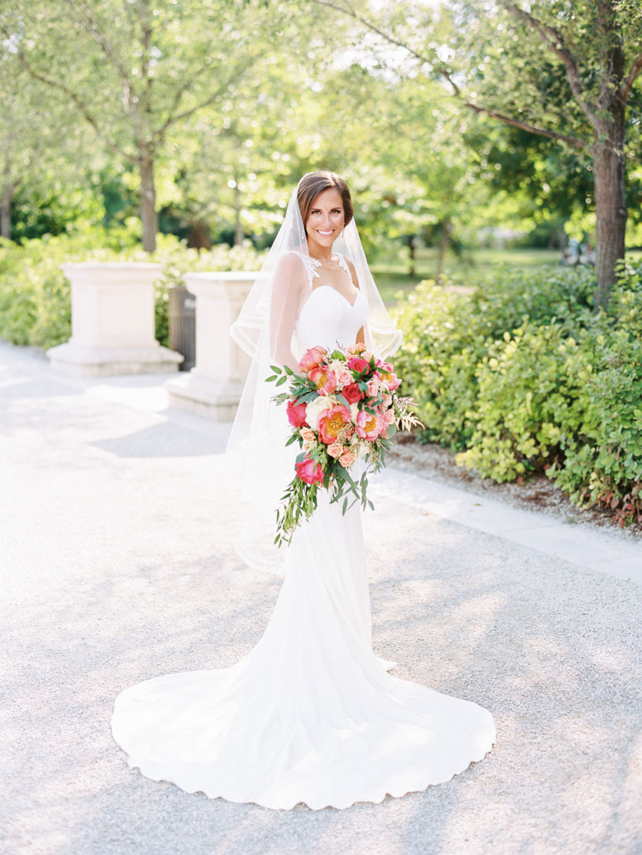 bride in forest park