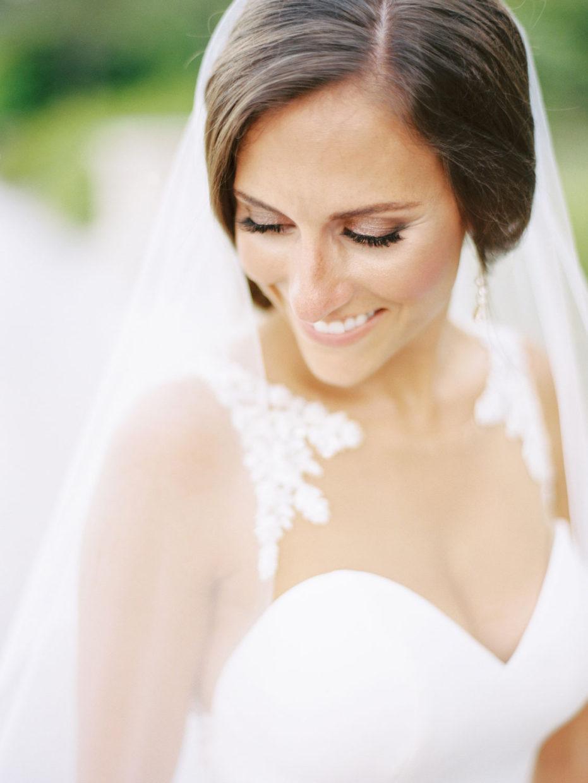 bridal portrait on film