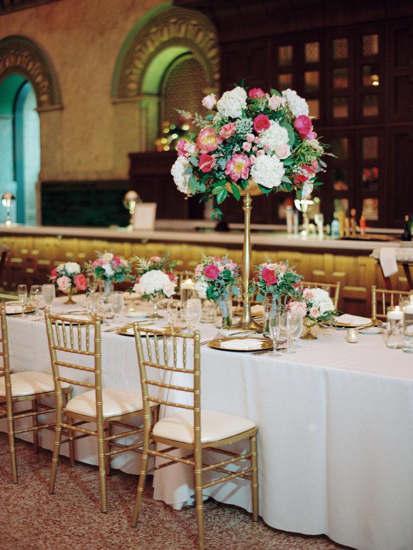 head table union station wedding