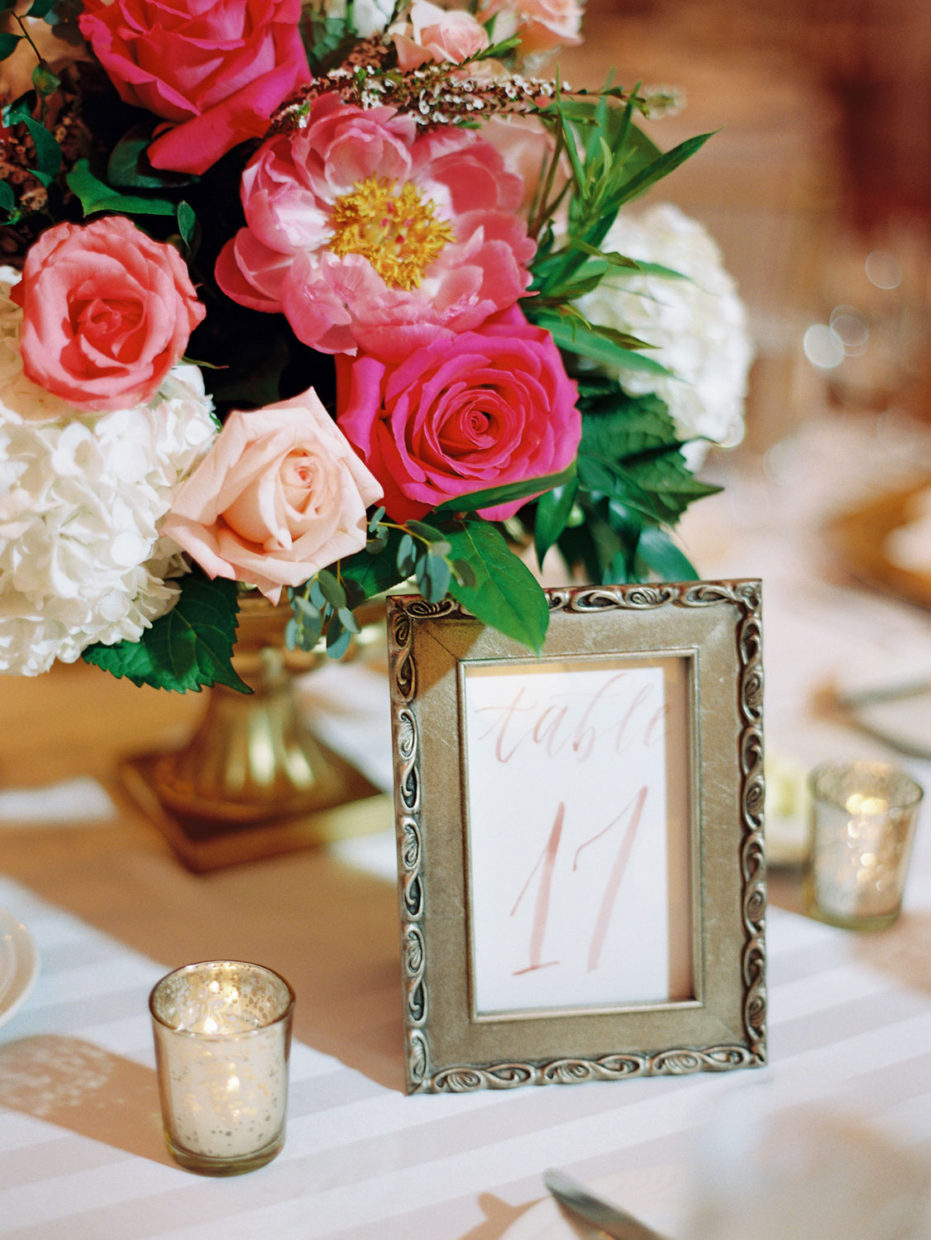 table number st louis union station wedding