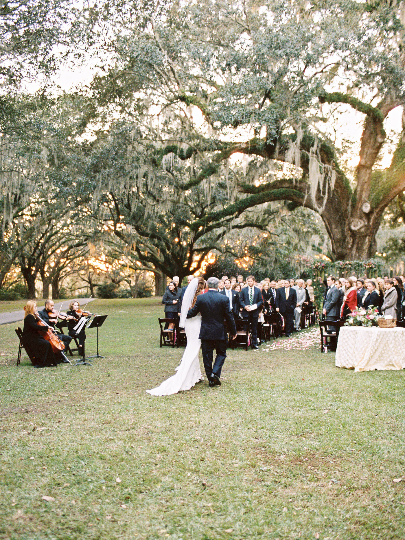 wedding ceremony at legare waring house