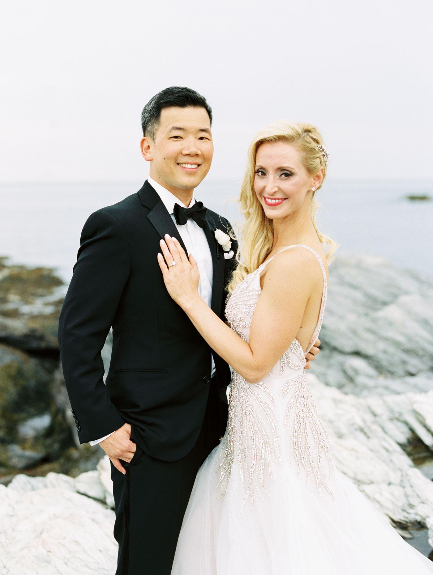 bride and groom film portrait