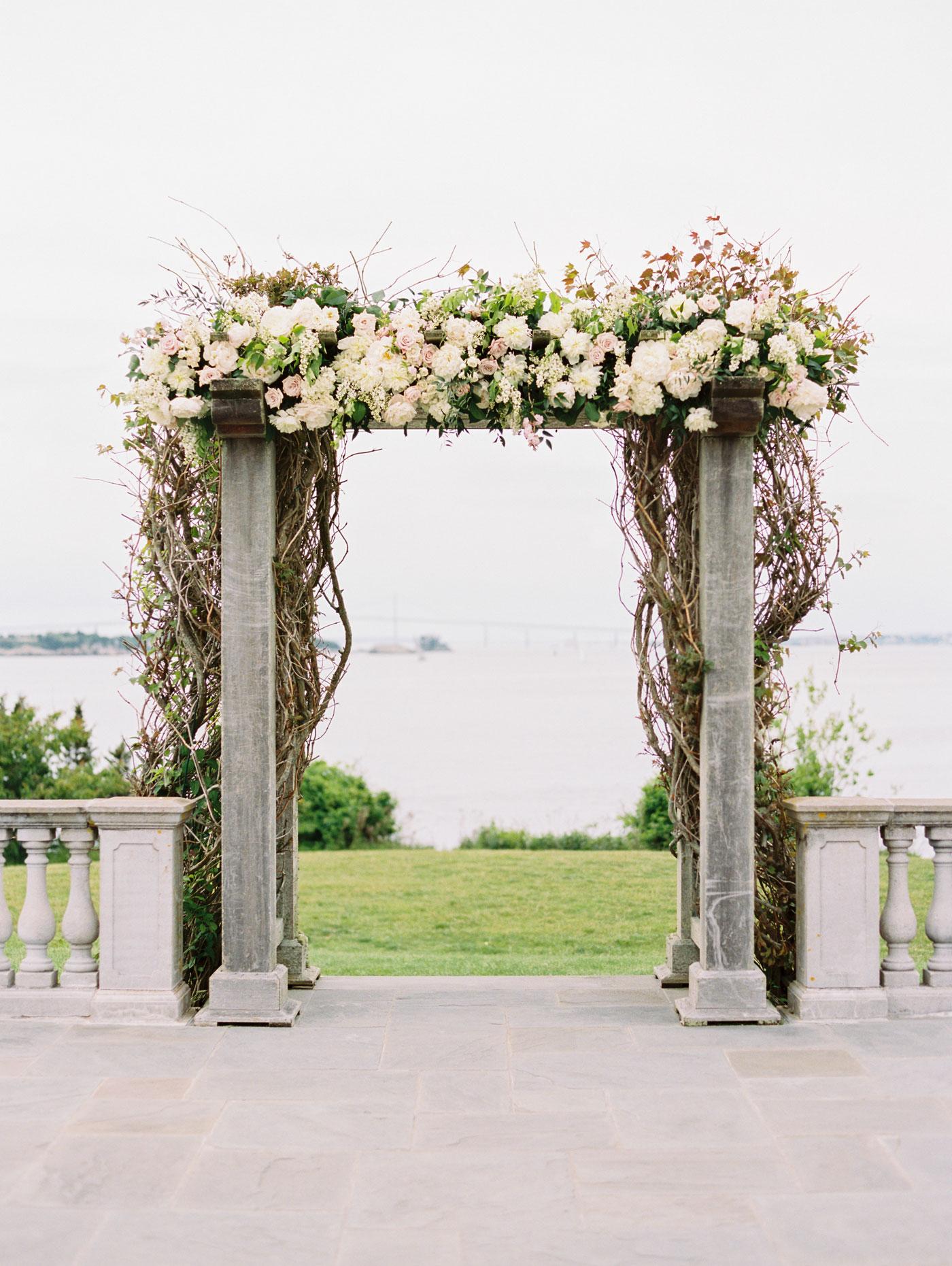 organic wedding ceremony details