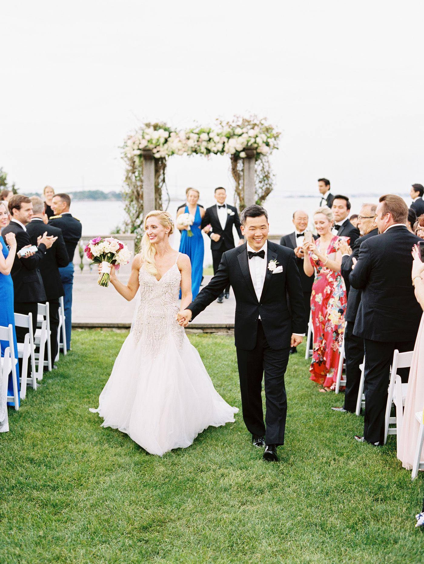 real wedding at castle hill inn
