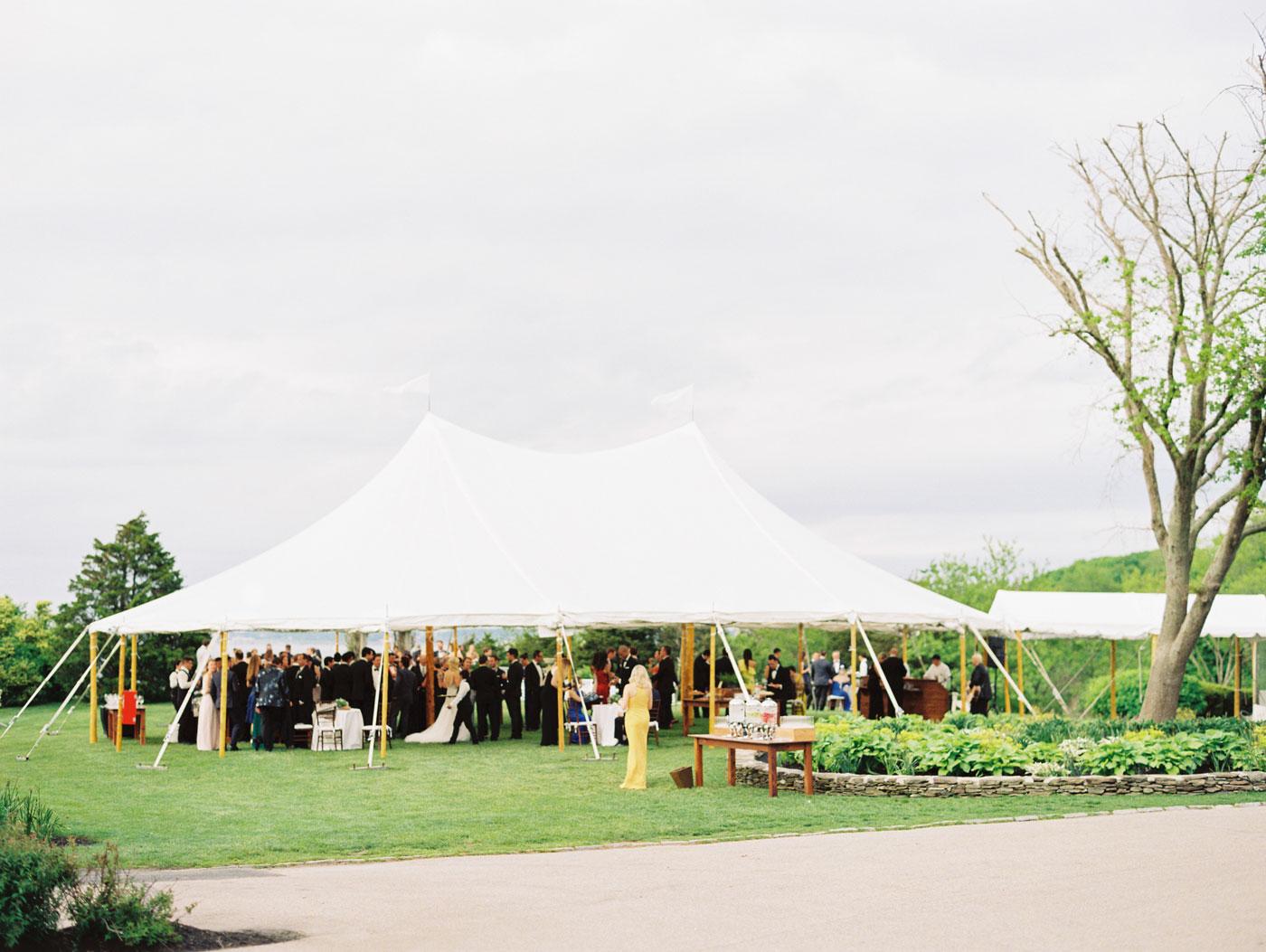 tent wedding at castle hill inn