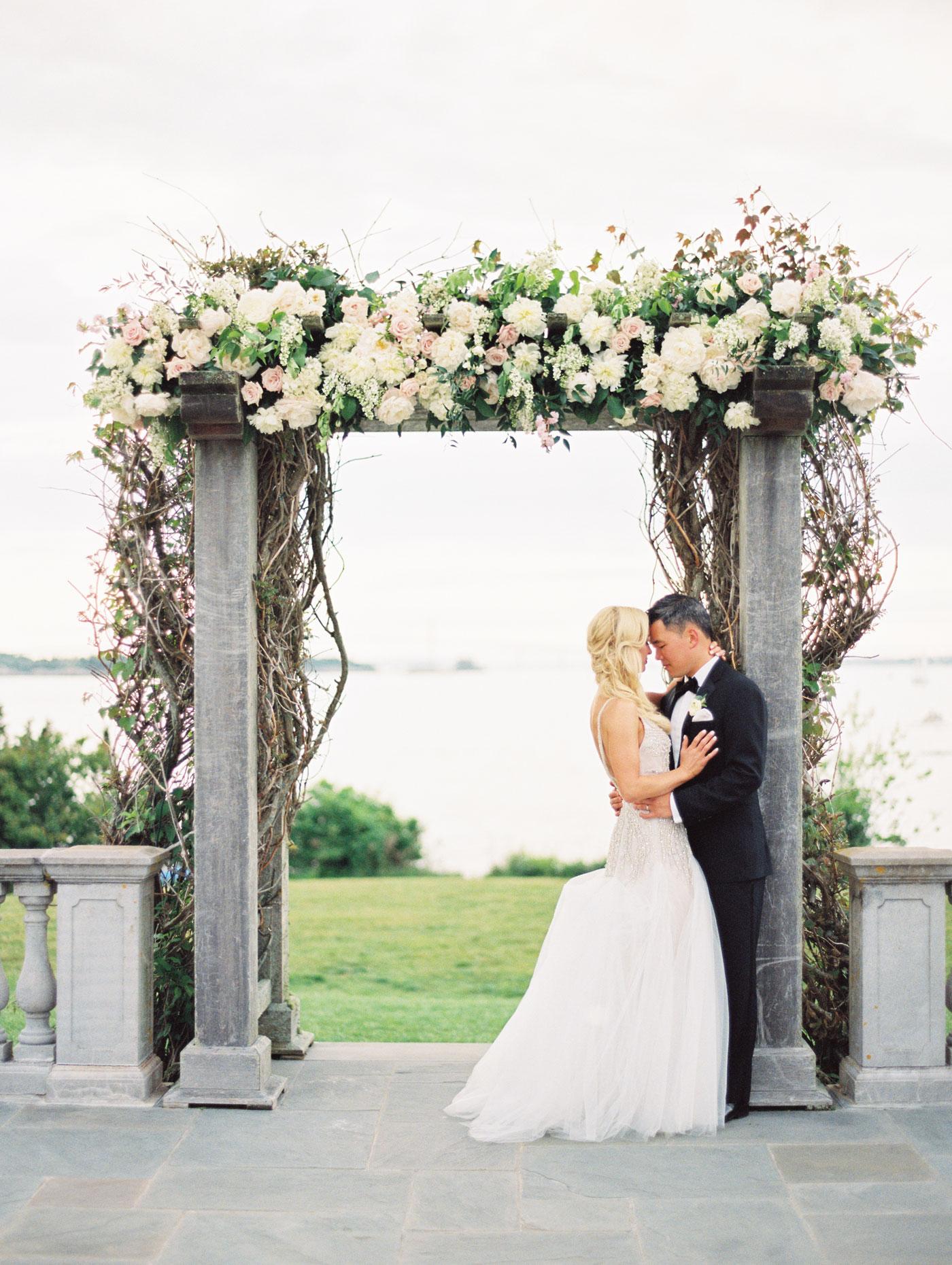 romantic film wedding portraits