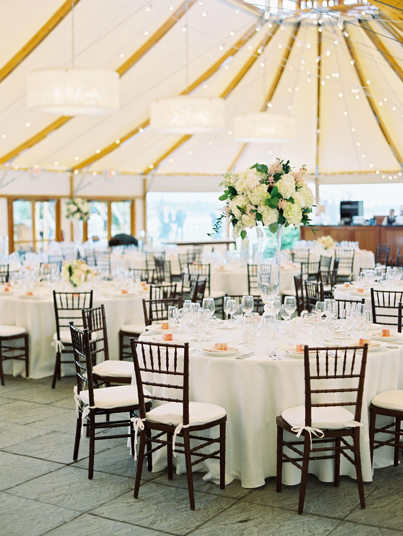 wedding reception at castle hill inn