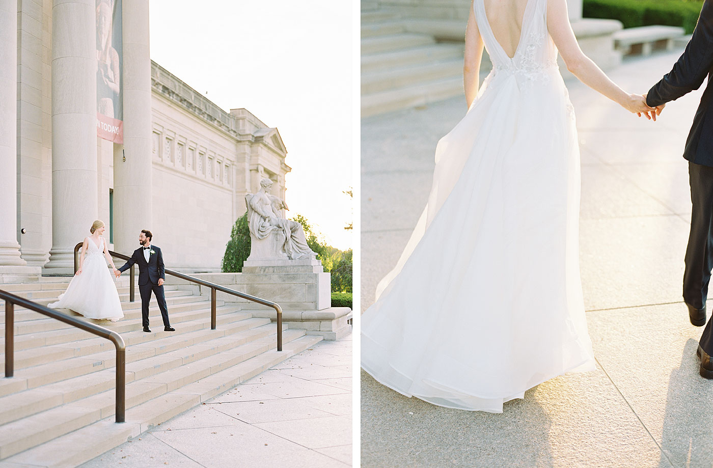 st. louis art museum wedding portraits