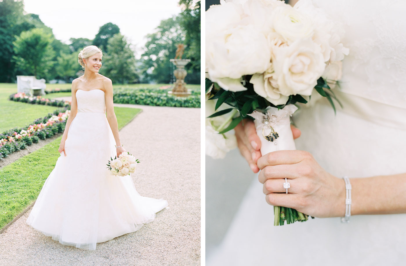 bridal portraits at rosecliff mansion