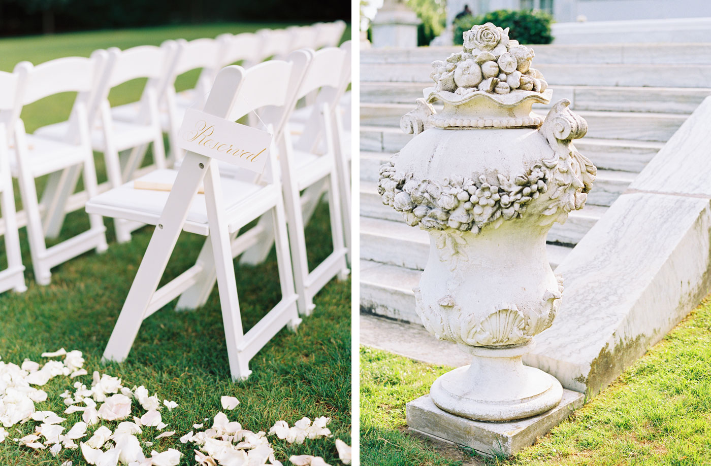 wedding details at rosecliff