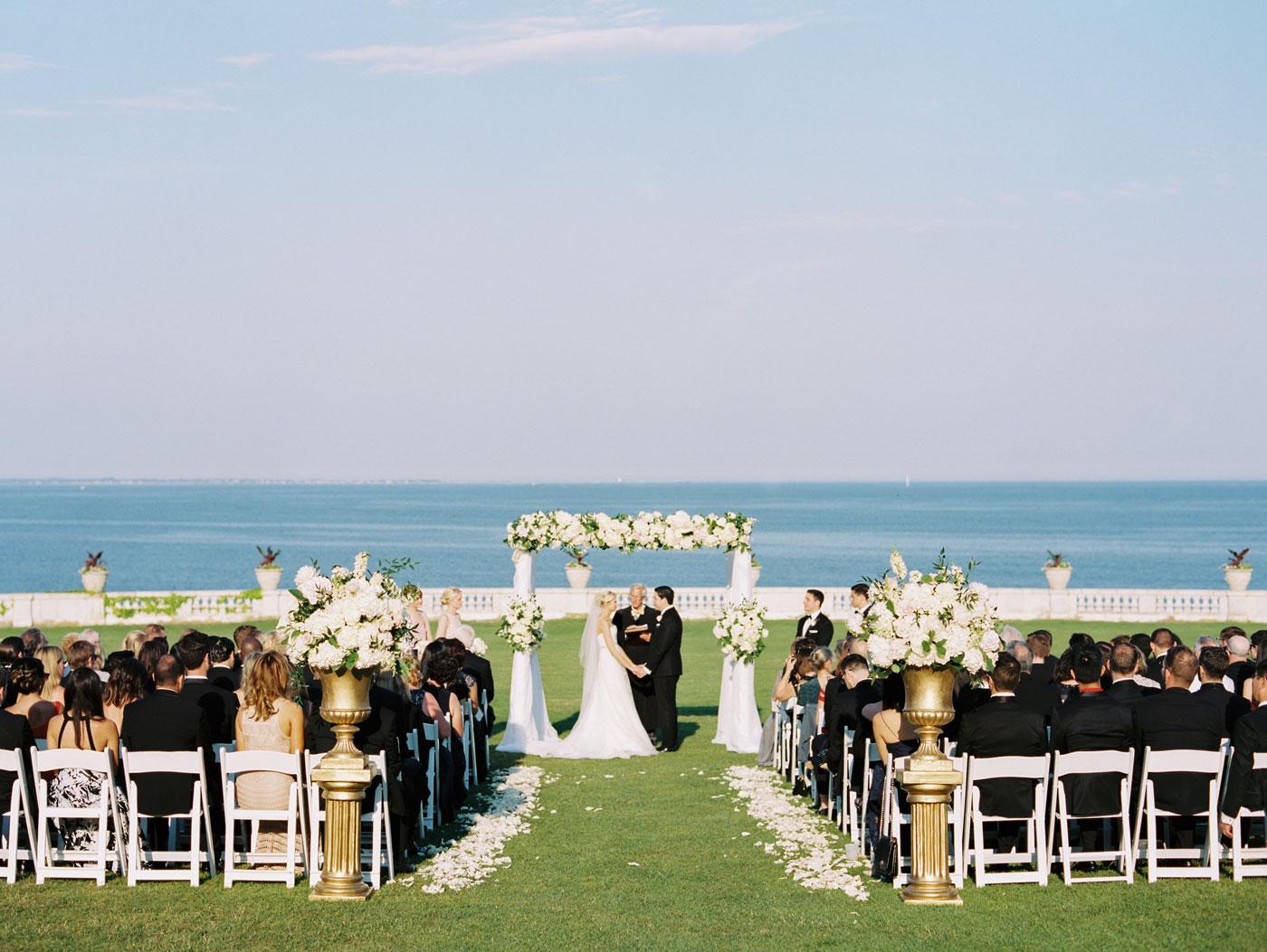 real wedding at rosecliff mansion