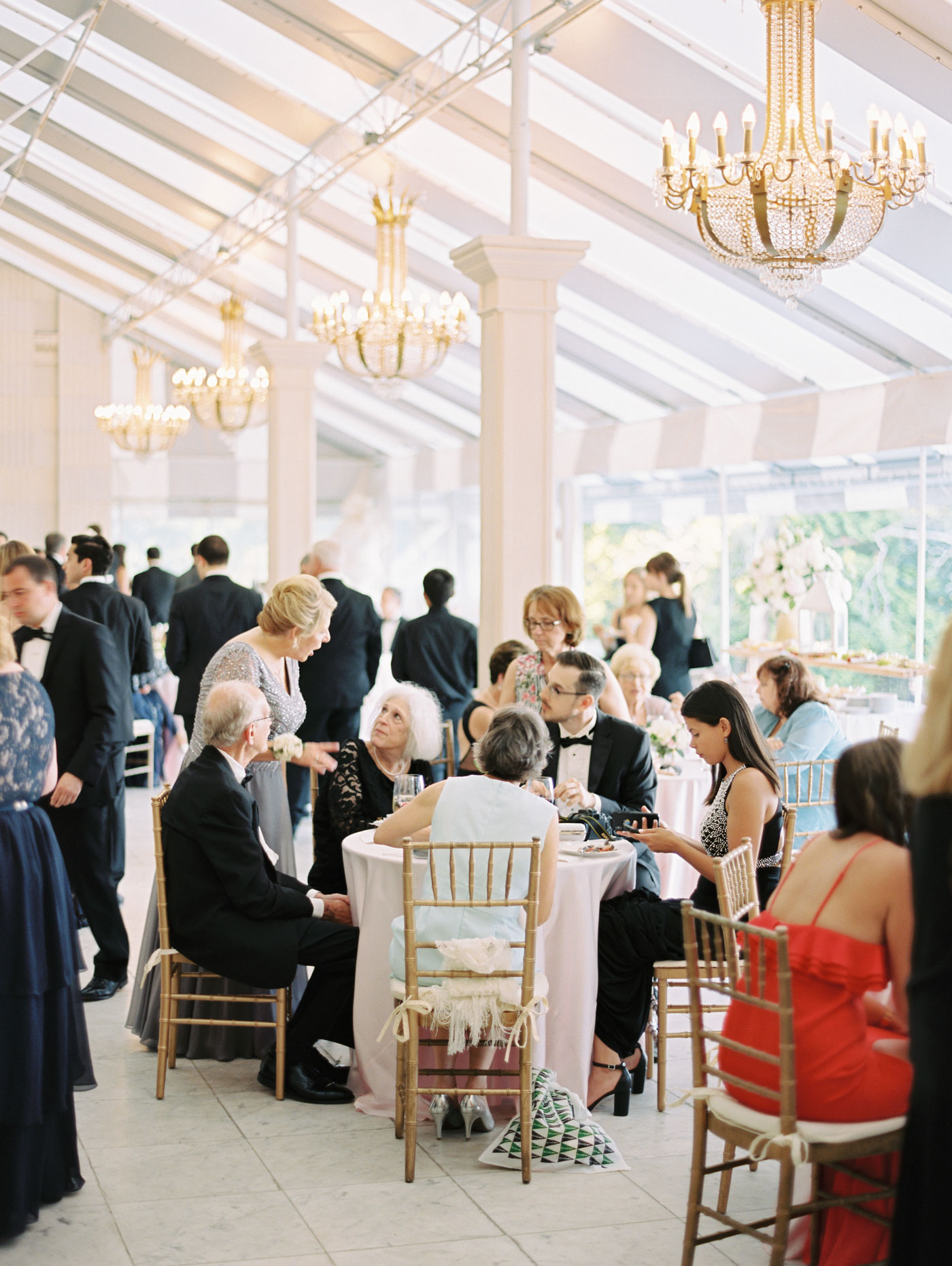 cocktail hour at rosecliff mansion
