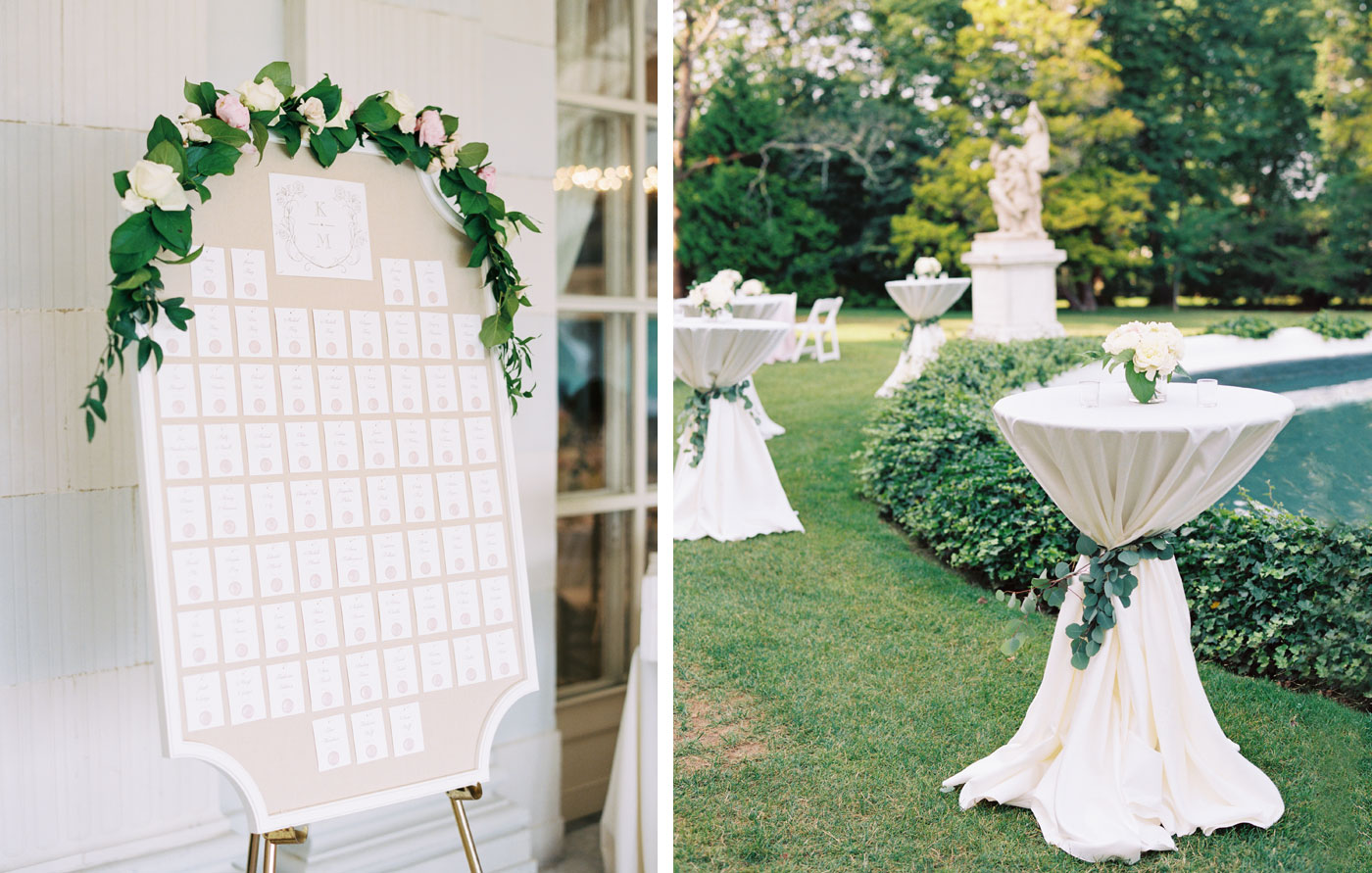 wedding details on film at rosecliff