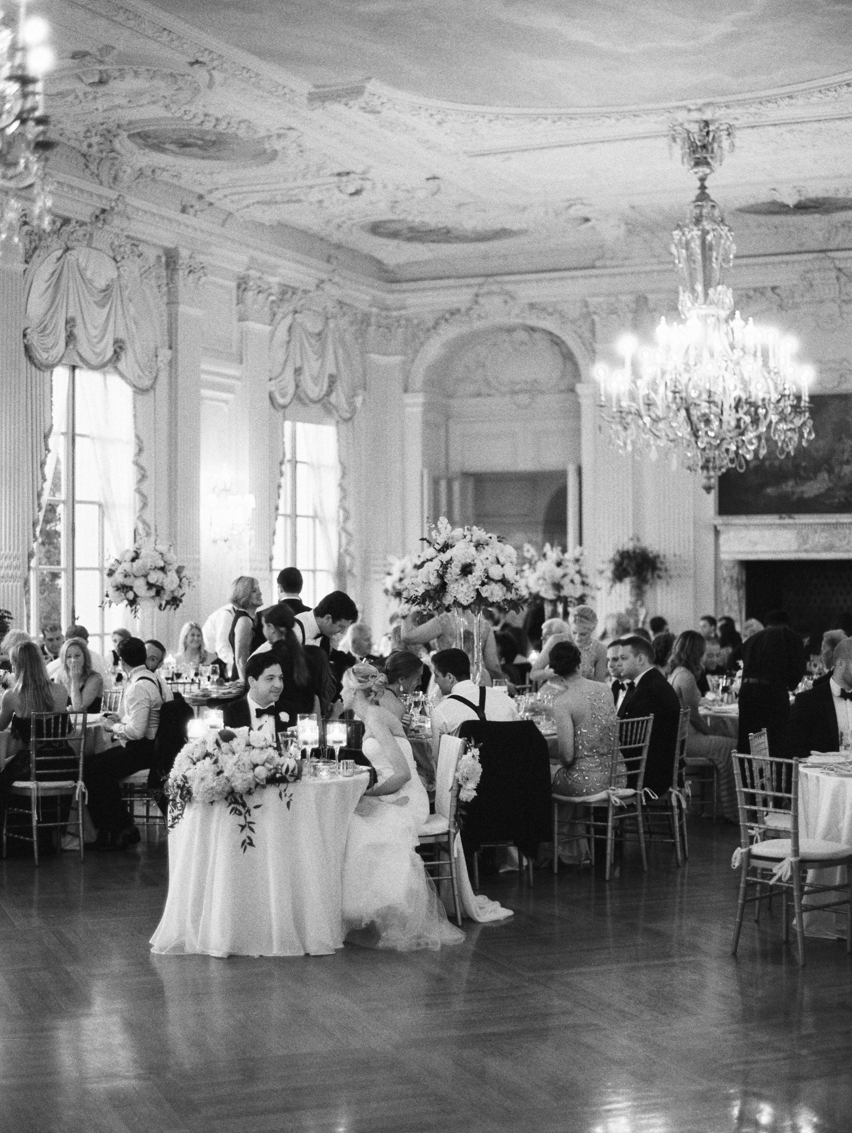 ballroom wedding at rosecliff mansion