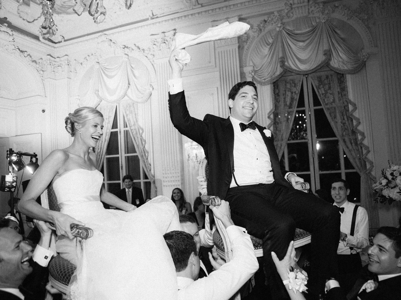 jewish wedding dance at rosecliff mansion