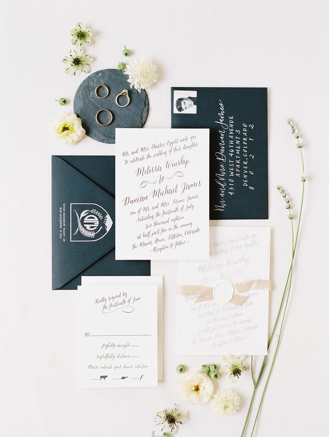 colorado wedding invitation